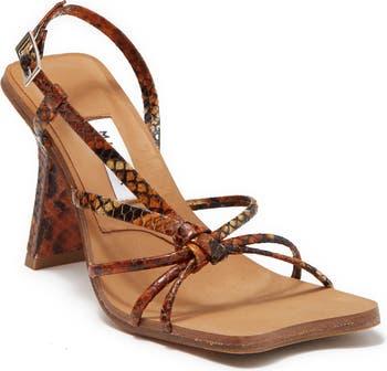 Сандалии на каблуке с тиснением под змею Sarah Miista