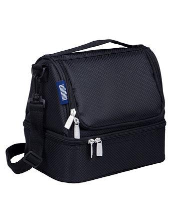 Rip-Stop Черная сумка для обеда с двумя отделениями Wildkin