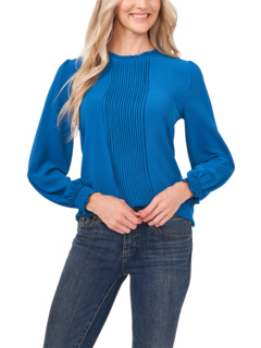 Заправленная блузка с длинными рукавами и булавками CeCe