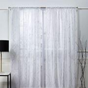 Nicole Miller NY 2-pack New York Vanderbilt Metallic Print Sheer Window Curtains Nicole Miller NY