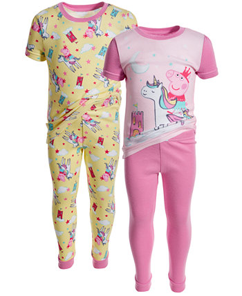 Хлопковая пижама из 4 предметов для маленьких девочек Peppa Pig