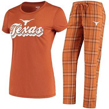 Women's Concepts Sport Texas Orange/White Texas Longhorns Ethos T-Shirt & Pants Sleep Set Unbranded