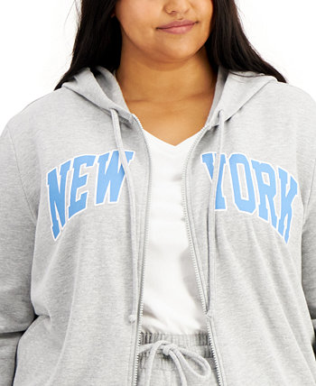 Trendy Plus Size New York-Print Sweatshirt Rebellious One