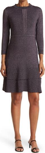 Металлическое платье с люрексом и двойным воланом Nanette nanette lepore