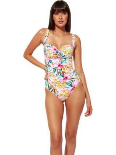 Сплошной купальник-бандо Beachy Keen со сборками Bleu Rod Beattie