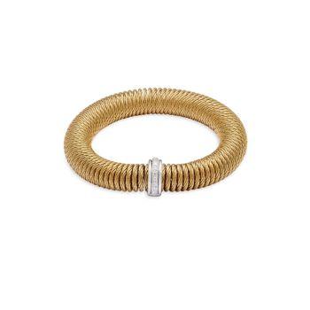 Нержавеющая сталь, белое золото 585 пробы и amp; Бриллиантовый браслет ALOR