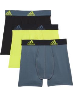 Комплект нижнего белья Performance Boxer Briefs, 3 пары (для больших детей) Adidas Kids