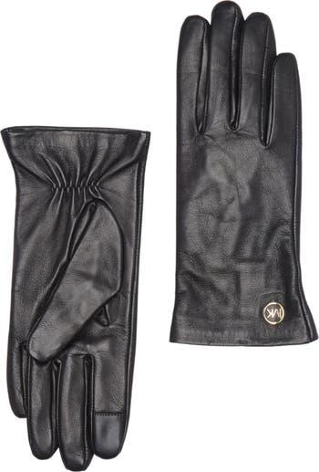 Кожаные перчатки Access Michael Kors