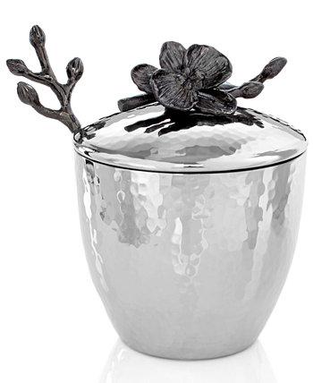 Горшок с черной орхидеей и ложкой MICHAEL ARAM