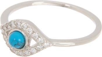 Бирюзовое кольцо сглаза ADORNIA