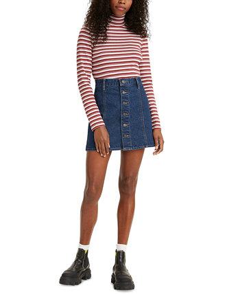 Джинсовая юбка трапециевидной формы с пуговицами спереди Levi's®
