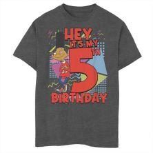 Футболка для мальчиков 8-20 Nickelodeon Hey Arnold Gerald с рисунком на пятый день рождения Nickelodeon