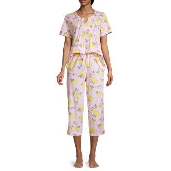 2-Piece Floral-Print Pajama Set Carole Hochman