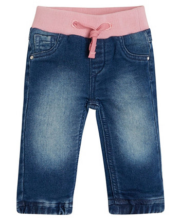 Baby Girls Knit Denim Pull-On Jogger GUESS