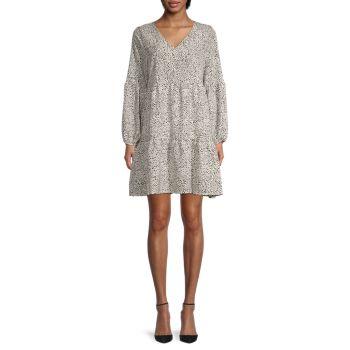 Многослойное платье бэбидолл с принтом STELLAH