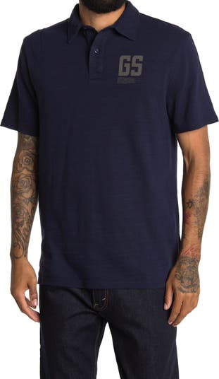 Хлопковая рубашка-поло с логотипом G-STAR RAW