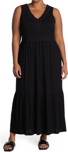 Макси-платье без рукавов с оборками и V-образным вырезом Spense