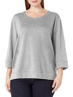 Side Split Pullover 3/4 Sleeve Top Karen Neuburger