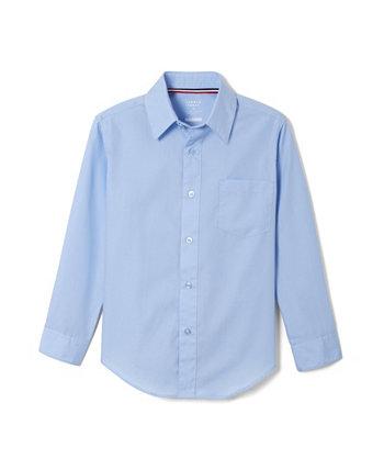 Классическая рубашка для больших мальчиков с длинным рукавом с расширяющимся воротником French Toast