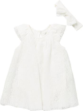 Кружевное платье и повязка на голову Baby Starters