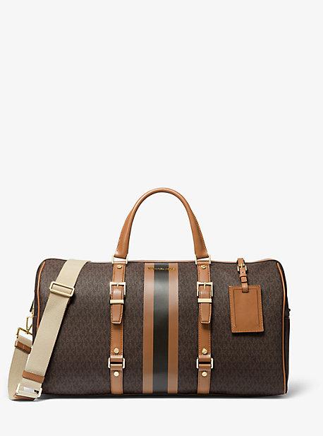 Большая сумка в полоску Weekender с логотипом Bedford Travel Michael Kors