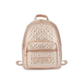 Стеганый рюкзак из искусственной кожи LOVE Moschino
