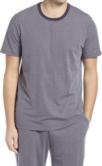 Рубашка для сна в полоску с круглым вырезом Daniel Buchler
