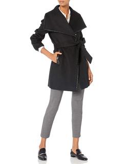 Natasha Wool Wrap Coat Elie Tahari