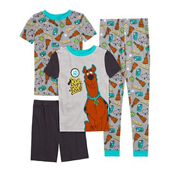 Boys 4-10 Scooby Doo Tops, Shorts & Pants Pajama Set Licensed Character