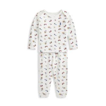 Пижамный комплект из 2 предметов Polo Bear с принтом медведя для маленьких мальчиков Ralph Lauren