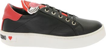 Кроссовки на шнуровке с пайетками LOVE Moschino