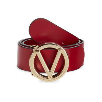 Кожаный ремень с логотипом Bessy Valentino By Mario Valentino