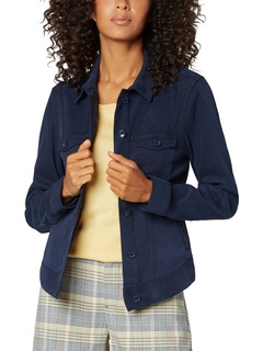 Classic Jacket with Angled Seaming in Stretch Cotton Dobby Liverpool