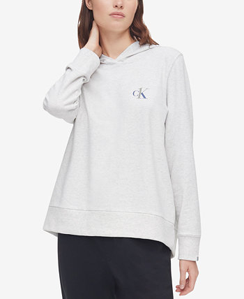Толстовка с капюшоном CK One Plus Size с принтом французского терри Calvin Klein