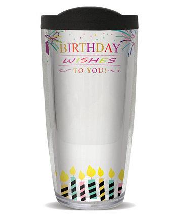 Sign-It День рождения Fem с двойной стенкой изолированный стакан, 16 унций Freeheart