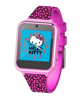 Смарт-часы Hello Kitty Kid's с сенсорным экраном на розовом силиконовом ремешке, 46 мм x 41 мм ACCUTIME