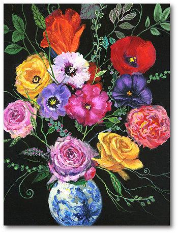 """Картины из современного букета на холсте, завернутые в галерею - 18 """"x 24"""" Courtside Market"""
