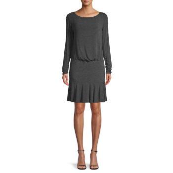 Платье с длинными рукавами и оборками Bailey 44