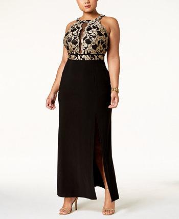 Платье большого размера с иллюминатором Nightway