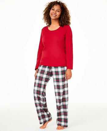 Matching Women's Mix It Stewart Plaid Family Pajama Set, созданный для Macy's Family Pajamas