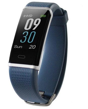 Часы с трекером активности и пульсометром темно-синего цвета с резиновым ремешком, 19 мм Body Glove