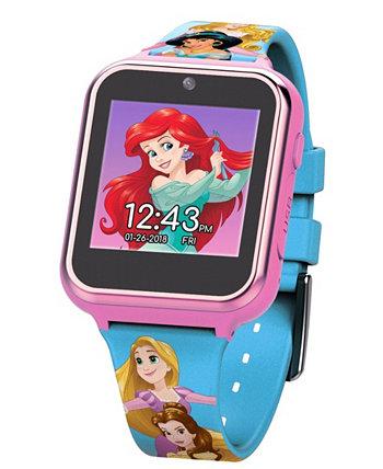 Смарт-часы с сенсорным экраном для детей Disney Princess с розовым силиконовым ремешком, 46 мм x 41 мм ACCUTIME