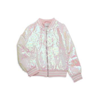 Куртка-бомбер с пайетками для маленьких девочек Urban Republic