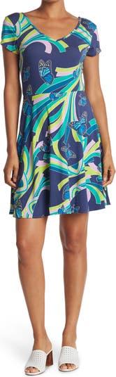 Платье с короткими рукавами и пышной юбкой Gloria Social Butterfly TORI RICHARD
