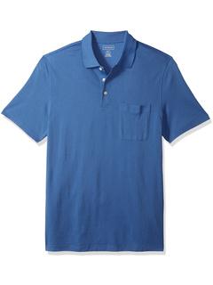 Рубашка-поло с короткими рукавами и жаккардовыми полосками Big & Tall Van Heusen