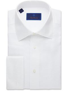 Формальная рубашка с горизонтальными ребрами David Donahue