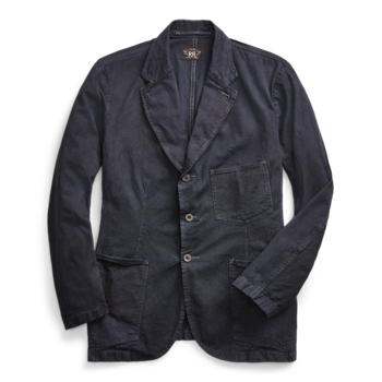 Indigo Striped Sport Coat Ralph Lauren