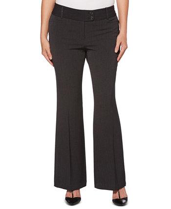 Женские габардиновые брюки с пышными формами и коротким внутренним швом Rafaella