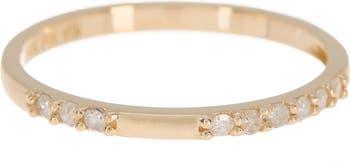 Кольцо из 14-каратного золота с бриллиантами и паве Paige Novick