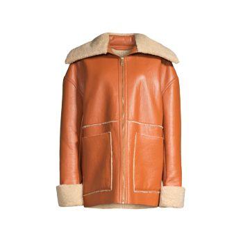 Куртка из искусственной овчины Beryl Nanushka